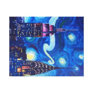 Starry Night in New York - Van Gogh Inspirations Canvas Print