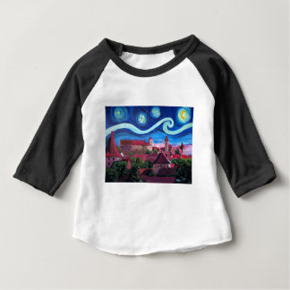 Starry Night in Nuremberg Germany with Castle Baby T-Shirt