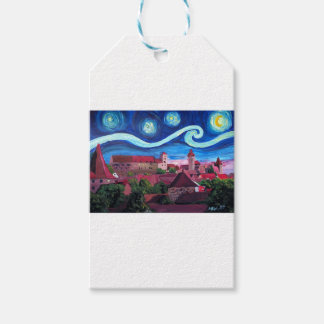 Starry Night in Nuremberg Germany with Castle Pack Of Gift Tags