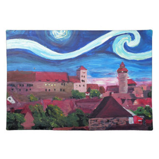 Starry Night in Nuremberg Germany with Castle Placemat