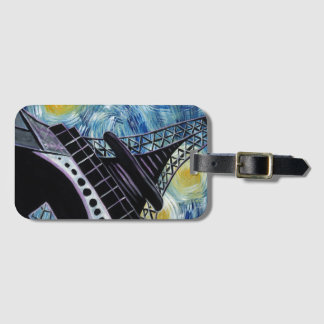 Starry Night in Paris Bag Tag