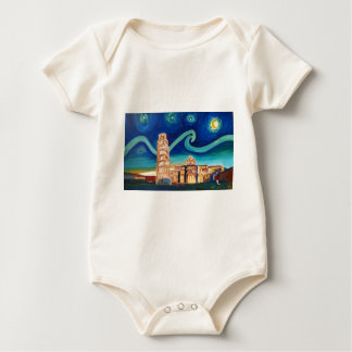 Starry Night in Pisa with Leaning Tower Baby Bodysuit