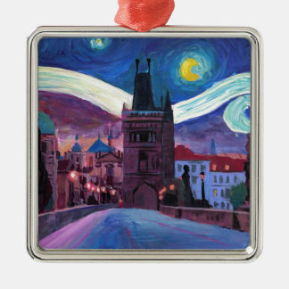 Starry Night in Prague  with Carlsbridge Metal Ornament