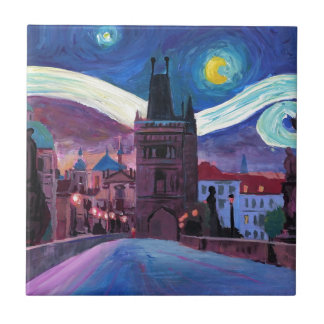 Starry Night in Prague  with Carlsbridge Tile