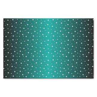 Starry Night in Shiny Teal Tissue Paper