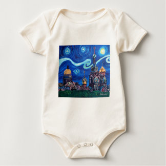 Starry Night in St Petersburg Russia Baby Bodysuit