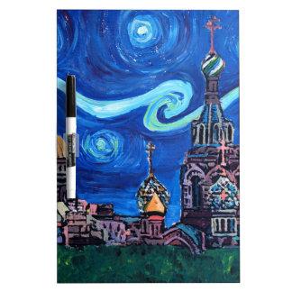 Starry Night in St Petersburg Russia Dry Erase Board