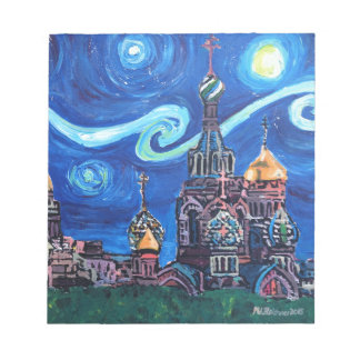Starry Night in St Petersburg Russia Notepad