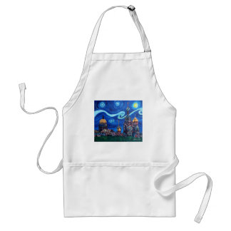 Starry Night in St Petersburg Russia Standard Apron