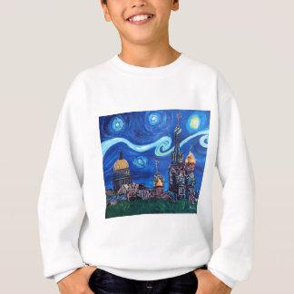 Starry Night in St Petersburg Russia Sweatshirt