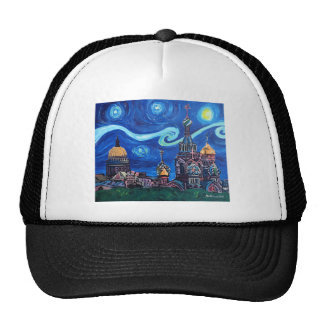 Starry Night in St Petersburg Russia Trucker Hat