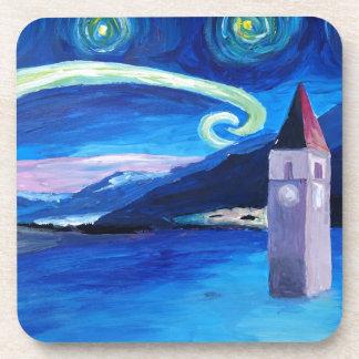 Starry Night in Switzerland - Vierwaldstätter See Beverage Coaster