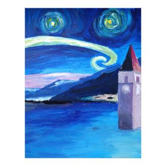 Starry Night in Switzerland - Vierwaldstätter See Letterhead
