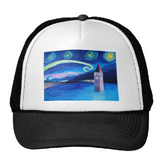 Starry Night in Switzerland - Vierwaldstätter See Trucker Hat