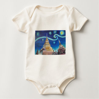 Starry Night in Thailand - Van Gogh Inspirations Baby Bodysuit