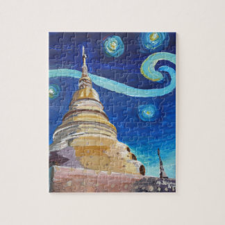 Starry Night in Thailand - Van Gogh Inspirations Jigsaw Puzzle