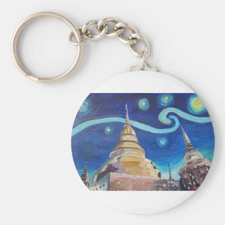 Starry Night in Thailand - Van Gogh Inspirations Keychain