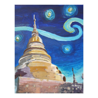 Starry Night in Thailand - Van Gogh Inspirations Letterhead