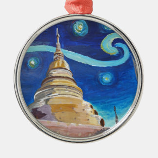 Starry Night in Thailand - Van Gogh Inspirations Metal Ornament