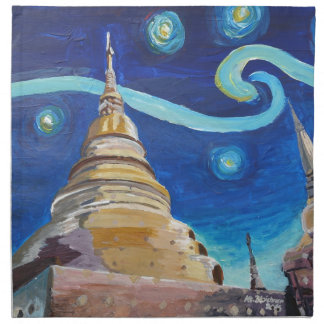 Starry Night in Thailand - Van Gogh Inspirations Napkin