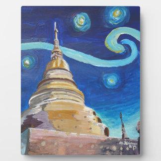 Starry Night in Thailand - Van Gogh Inspirations Plaque