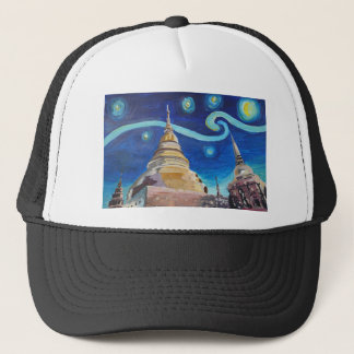 Starry Night in Thailand - Van Gogh Inspirations Trucker Hat