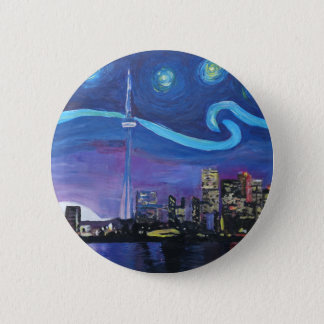 Starry Night in Toronto with Van Gogh Inspirations 2 Inch Round Button