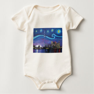 Starry Night in Toronto with Van Gogh Inspirations Baby Bodysuit