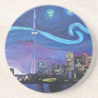Starry Night in Toronto with Van Gogh Inspirations Beverage Coasters