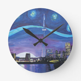 Starry Night in Toronto with Van Gogh Inspirations Clocks