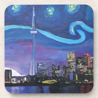 Starry Night in Toronto with Van Gogh Inspirations Drink Coaster