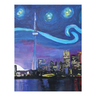 Starry Night in Toronto with Van Gogh Inspirations Letterhead