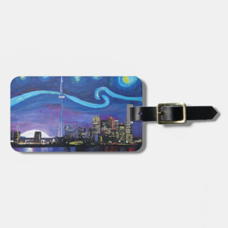 Starry Night in Toronto with Van Gogh Inspirations Luggage Tag