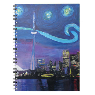 Starry Night in Toronto with Van Gogh Inspirations Notebook