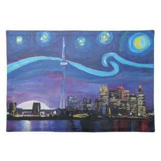 Starry Night in Toronto with Van Gogh Inspirations Placemat