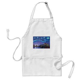 Starry Night in Toronto with Van Gogh Inspirations Standard Apron