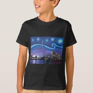 Starry Night in Toronto with Van Gogh Inspirations T-Shirt