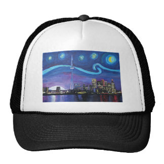 Starry Night in Toronto with Van Gogh Inspirations Trucker Hat