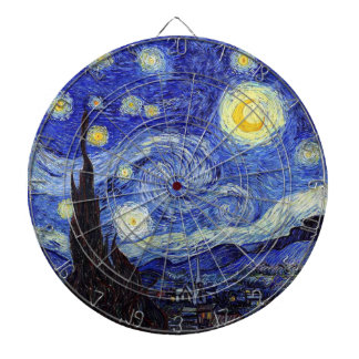 Starry Night  Inspired Van Gogh Classic Products Dartboard