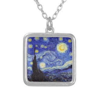 Starry Night  Inspired Van Gogh Classic Products Silver Plated Necklace