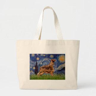 Starry Night - Irish Setter 3 Large Tote Bag