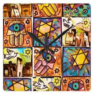 Starry Night Israel Ivory Wall Clock