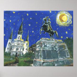 Starry Night Jackson Square Poster