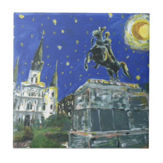 Starry Night Jackson Square Tile
