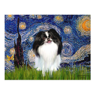 Starry Night - Japanese Chin 3 Postcard