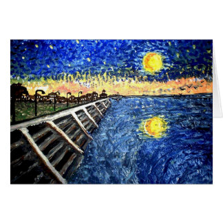 Starry Night Lake Front Note Card
