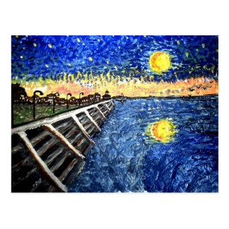 Starry Night Lake Front Postcard