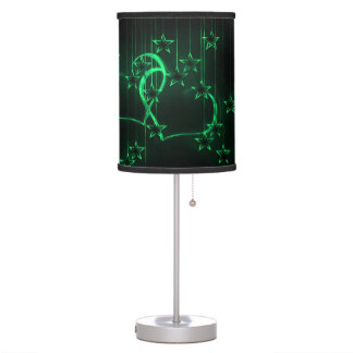 Starry Night Lovers Green Table Lamp
