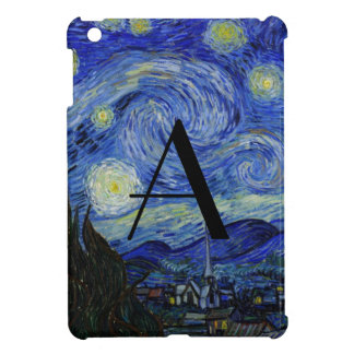 Starry night monogram case for the iPad mini