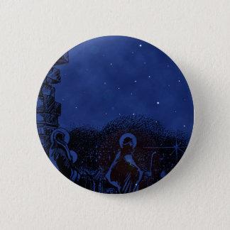 Starry Night Nativity 2 Inch Round Button